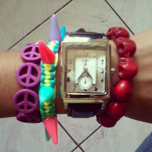 Love my new babies. Armcandies Skullbracelet Watch Tomatoph Love2013 MoreToCome