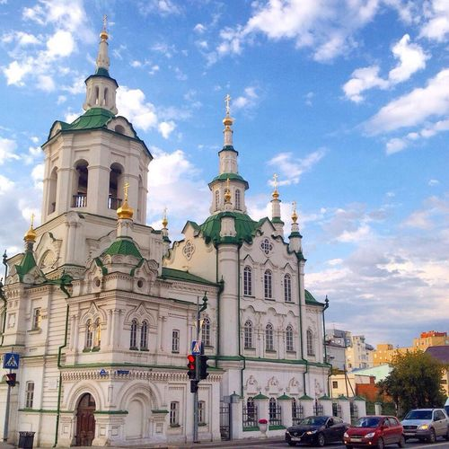 Tyumen Russia Church Beautiful Sky Cities Тюмень красота город