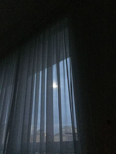 the moon is shining so bright at 8am #moon #full Moon #moonshine #moon Curtain Indoors  Window Drapes  No People Day Low Angle View Nature Sky