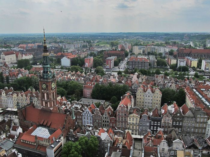 Gdansk Poland City Travel Building Exterior Built Structure Architecture Cityscape Residential District Crowd Building Crowded Sky High Angle View Roof Community Nature Day Town Horizon Outdoors House TOWNSCAPE Settlement