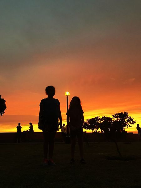 Sunset Silhouette Sky Outdoors IPhone 7 Photography Lifestyles