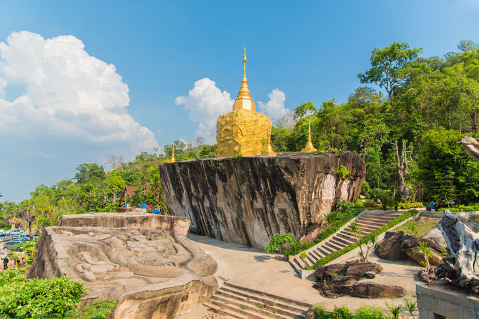 Buddha Chedi Religion Sakonnakhon SakonNakhon ,Thailand Statue Temple Temple Thailand Thailand Tourism Travel Wat Tham Pha Daen WatThamPhaDaen