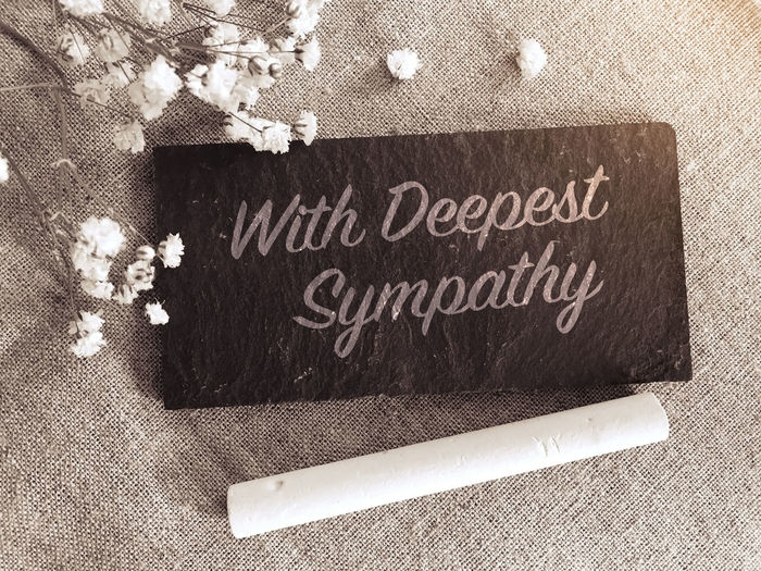 with deepest sympathy Deepest Sympathy Text With Deepest Sympathy