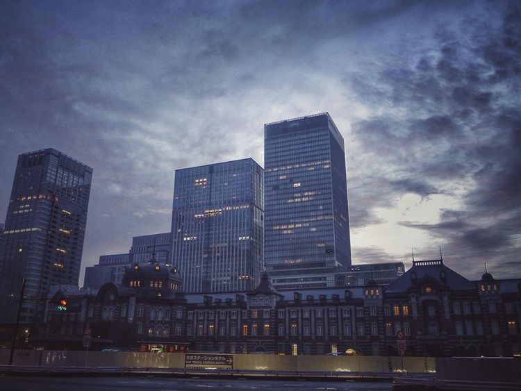 Photographic Memory Tokyo Station : Old Buildings Buildings & Sky Tokyo Sentimental Darkness And Light Snapseed Editing  A Day Of Tokyo Streetphoto_color 55mm !?