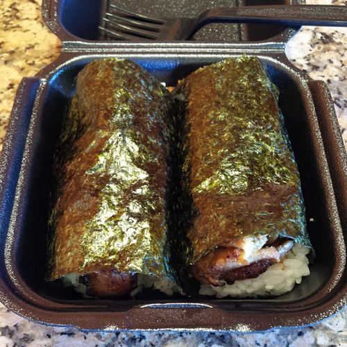 BBQ Chicken Musubi :) Lunchagain Imgettingfat Sogood ThaBest canthelpit onohawaiianbbq musubi japanesefood foodporn instafood asian