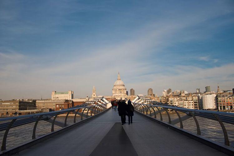 London millenium bridge and st. paul's cathedral