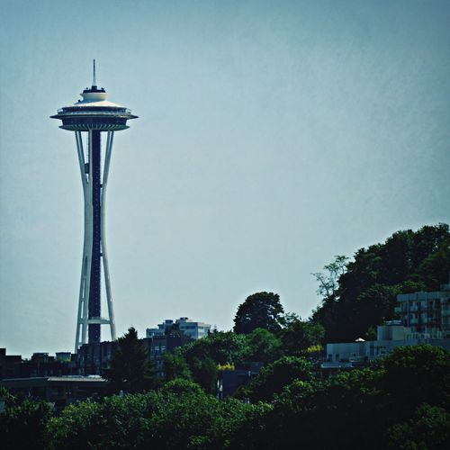 Telephoto Space Needle Cityscapes Seattle
