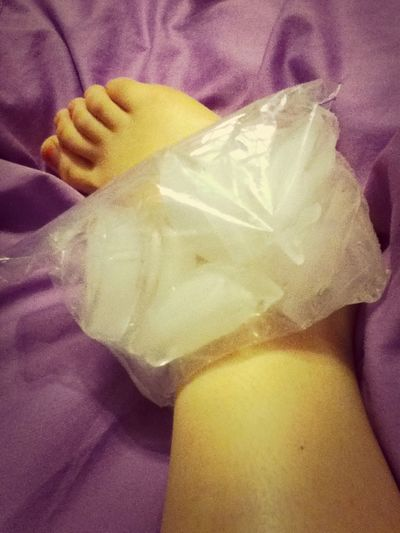 Having to ice my ankle