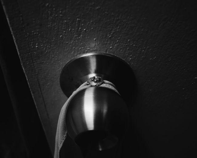 No People Close-up Indoors  Black Background Door Doorknob Blackandwhite Black And White Blackandwhite Photography Black&white Black And White Photography The Week On EyeEm Brooch Pin Scarf