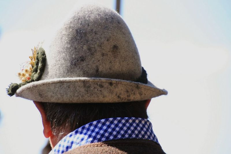 Hat Hut Bavarian Tradition Bavaria Tracht Bayrisch One Person Adult Headshot Rear View One Man Only Adults Only People Only Men Men Outdoors Close-up Real People Mammal