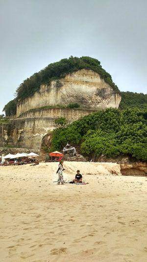 Sand Beach Day Sitting People