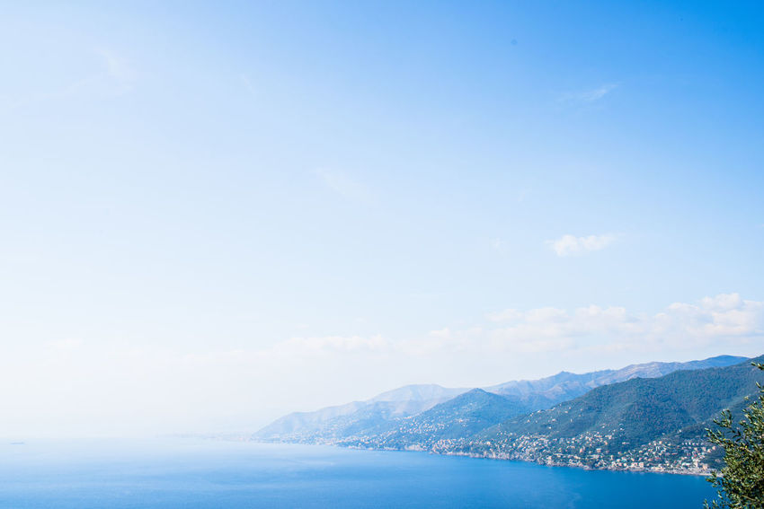 Portofino Natural Regional Park Beauty In Nature Blue Day Liguria Mountain Mountain Range Nature No People Outdoors Scenics Sea Sky Tranquil Scene Tranquility Water