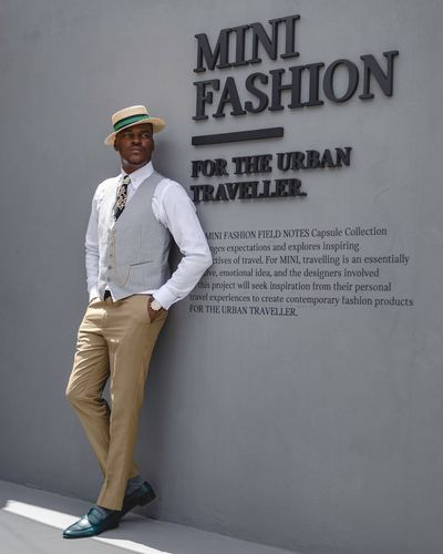Fashion Style Gray Hat One Person Text Standing Men Portrait The Modern Professional Fashion Business Clothing The Modern Professional The Modern Professional