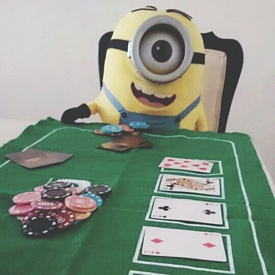 Minion Love Playing Cards PokerGame Texas Holdem Baby Minions Poker