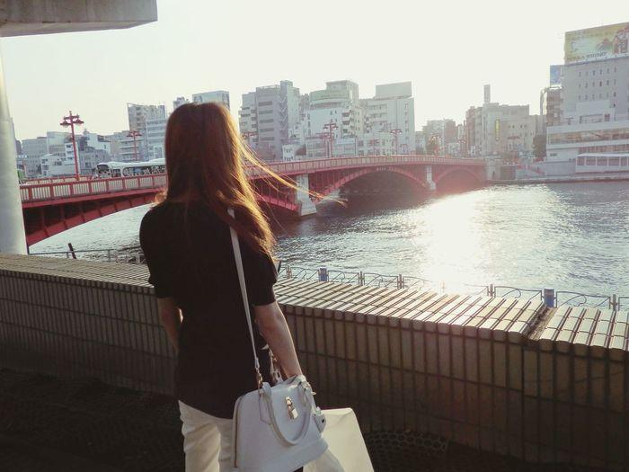 Tokyo Japan Sumidariver Sumida River Tokyo Afternoon Sunnyday☀️ EyeEm Best Shots On The Road People Photography People Of EyeEm