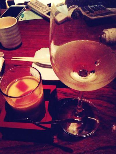 ワインでスタートの一人酒☆