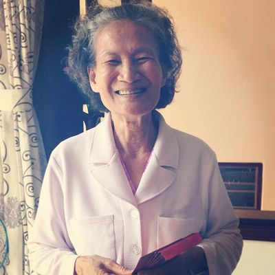 Hello! She is my gentle and righteous maternal grandmother <3 Long may she live to enjoy happiness with her offspring <3