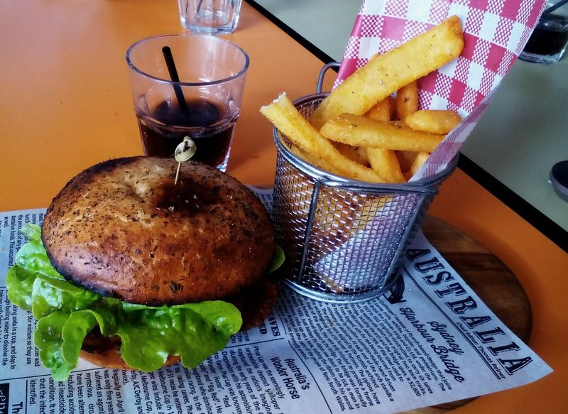 Food Unhealthy Eating Meal Fast Food Prepared Potato Ready-to-eat Australia & Travel Australian Food Hamburger Table Finding New Frontiers EyeEmNewHere