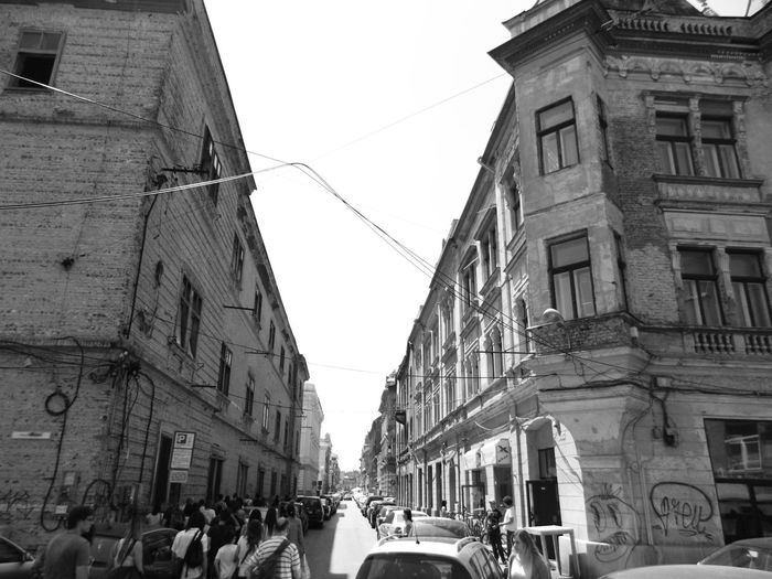 Old Town Accidental People Architecture Black Anbd White Building Exterior Crowd Day Gray Background Large Group Of People Mass Of People Old Town Streets Real People Street