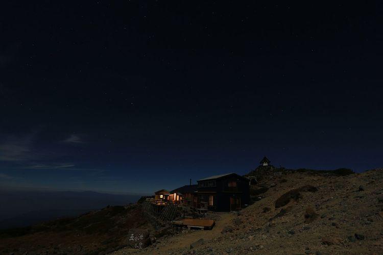 Sleep tight ( ´ρ`)。o ○ Beauty In Nature EyeEm Best Shots EyeEm Nature Lover Japan Landscape Midnight Mountain Nature Night Nightphotography Outdoors Scenics Sky Star - Space Star Field 夜景 日本 風景