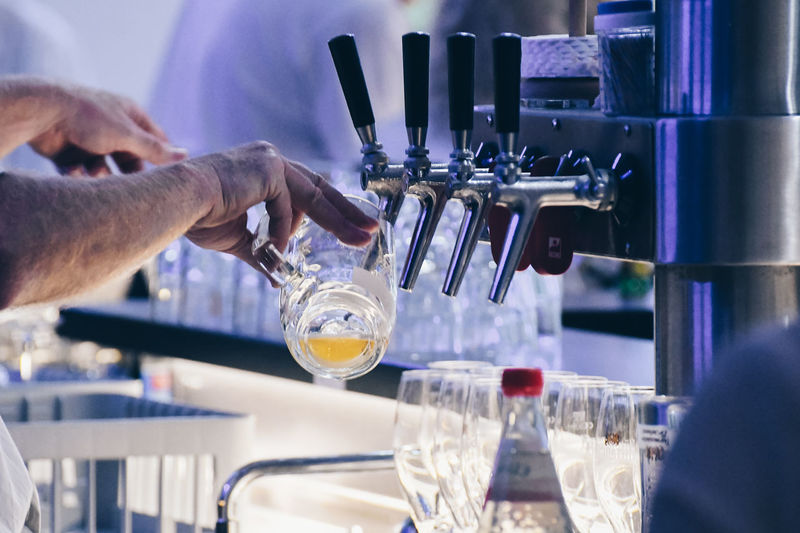 Bartender Beer Alcohol Bar Bar - Drink Establishment Bar Counter Bartender Drink Drinking Drinking Glass Finger Food And Drink Getting Beer Glass Hand Holding Household Equipment Human Limb Indoors  Men Nightlife Occupation Pouring Real People Refreshment Tap Beer