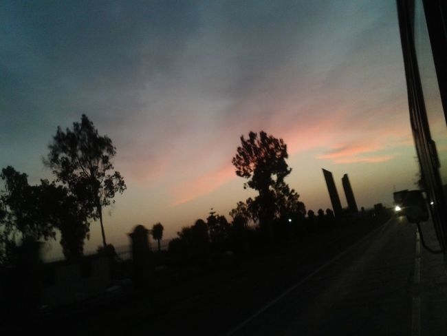 Back Home ♥ Beauty In Nature Cloud - Sky Nature Silhouette Sky Sunset Traveling