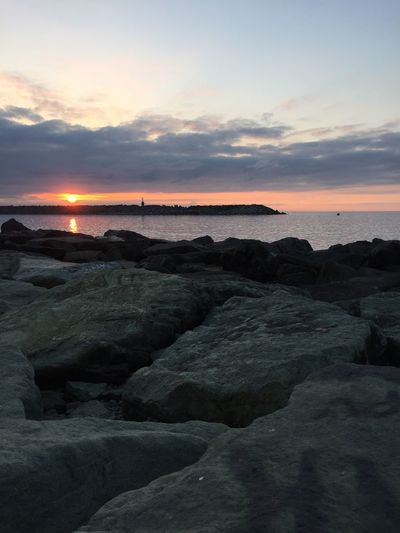Nature Sea Water Beach Sky Sunset