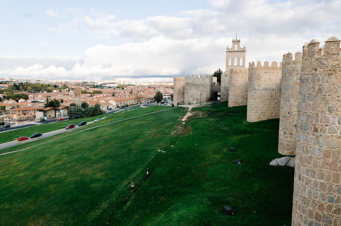 The Medieval Walls of Avila Architecture Avila Built Structure Cities City Cityscape Cityscapes Cloud - Sky Cloudy Day European  History Landmark Medieval No People Outdoors SPAIN Tourism Travel Travel Travel Destinations UNESCO World Heritage Site Walls
