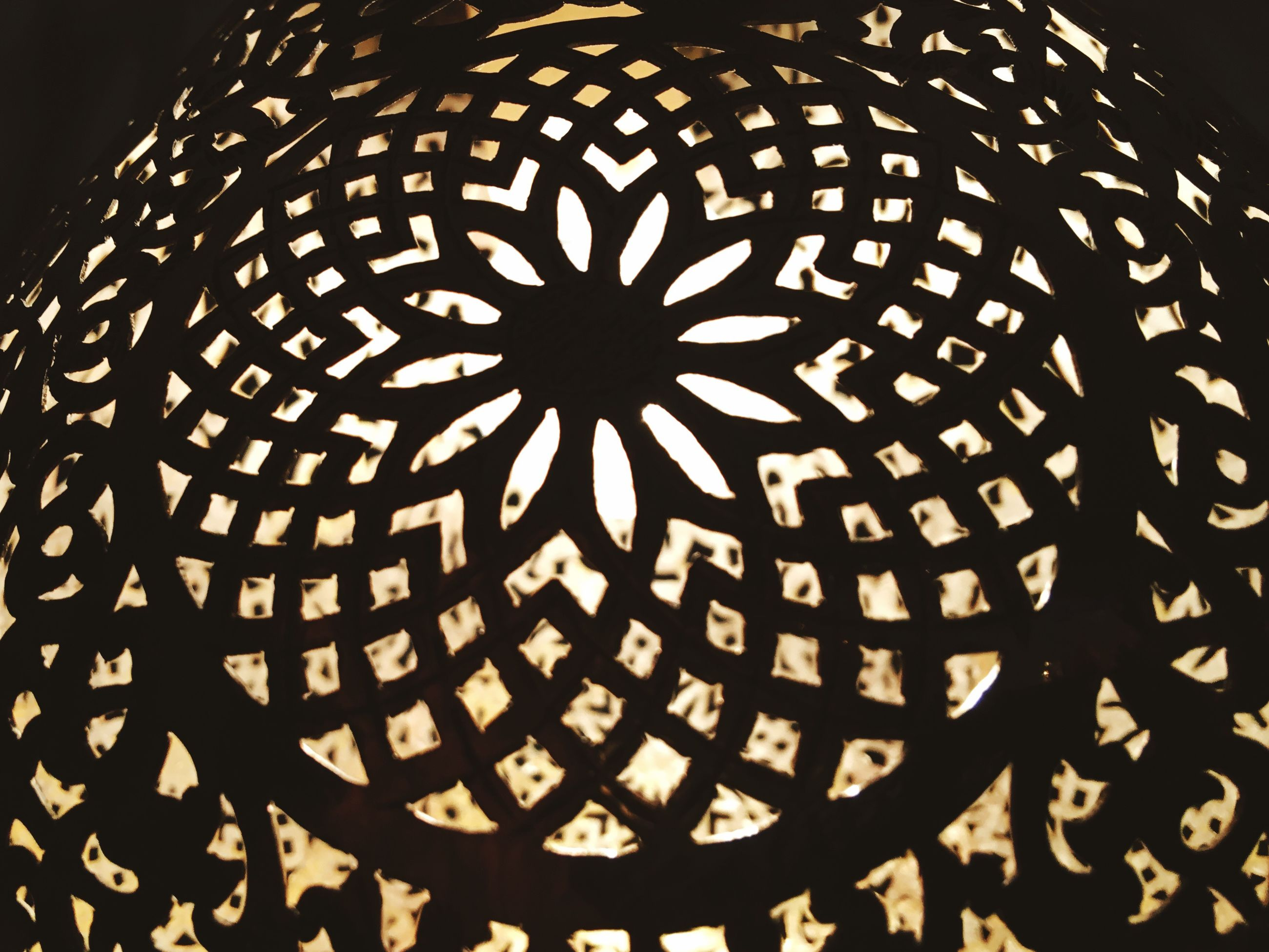 pattern, design, low angle view, indoors, night, illuminated, backgrounds, full frame, ceiling, shape, repetition, circle, no people, abstract, close-up, geometric shape, architectural feature, built structure, architecture, ornate