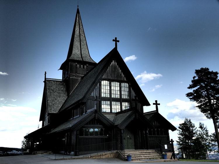 Blackchurch Chapel Church Dark Norway Oslo Black Religion