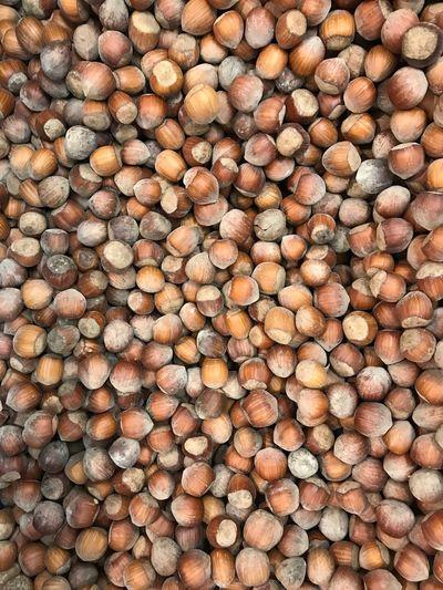 Full frame shot of chestnuts for sale at market