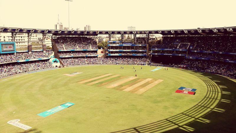 MumbaiIndians Soccer Field Crowd People Cricket Ground Stadium