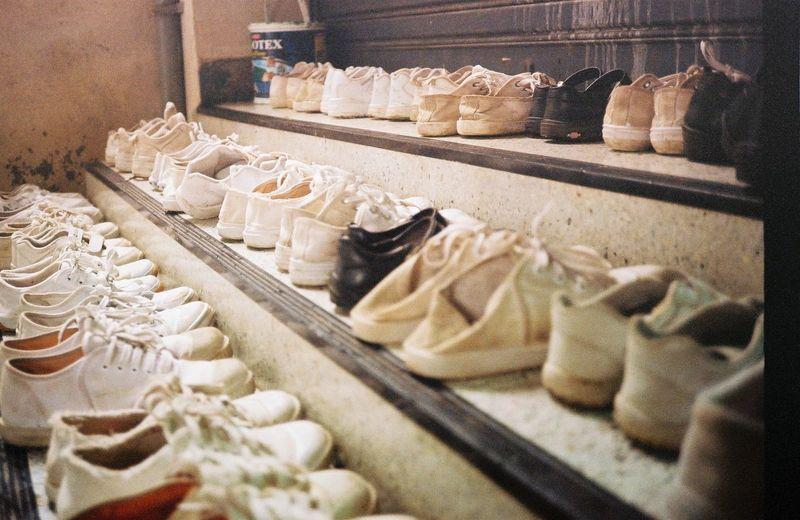 In A Row Kids No People School Shoe