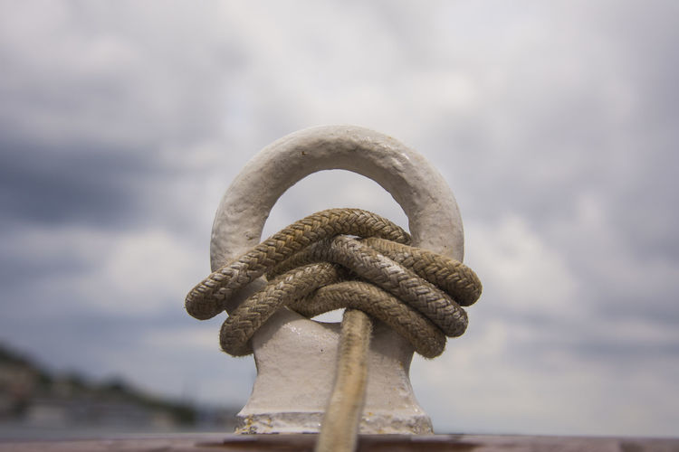 Sail! Strings Rope Marine Life Marine Apparel Sailboat Reliability Strength Close-up Cloud - Sky Storm Cloud Overcast Storm Atmospheric Mood Durability Security Tied Up