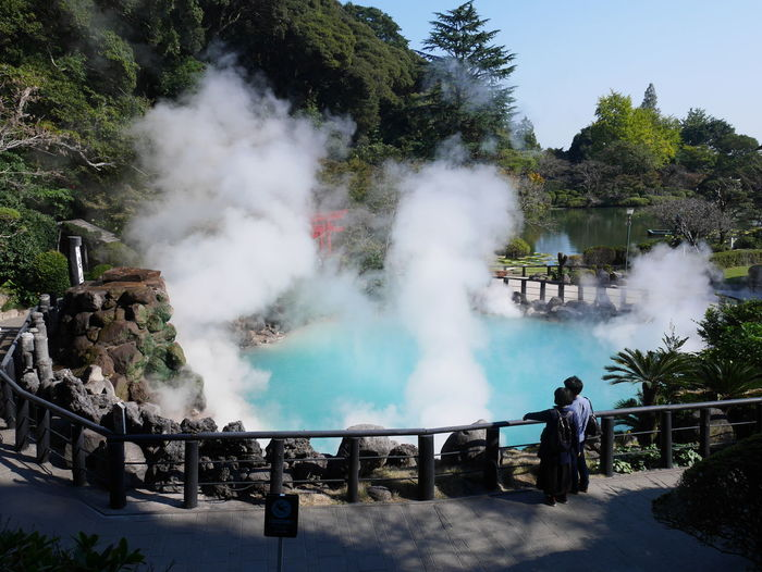 Beppu , Japan Oita Japan Smoke - Physical Structure Water Hot Spring Power In Nature Travel Steam