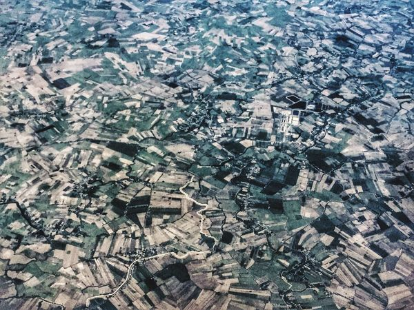 Pattern Pieces Paddy Field Agriculture Farm Land Land Used Taking Photos From An Airplane Window