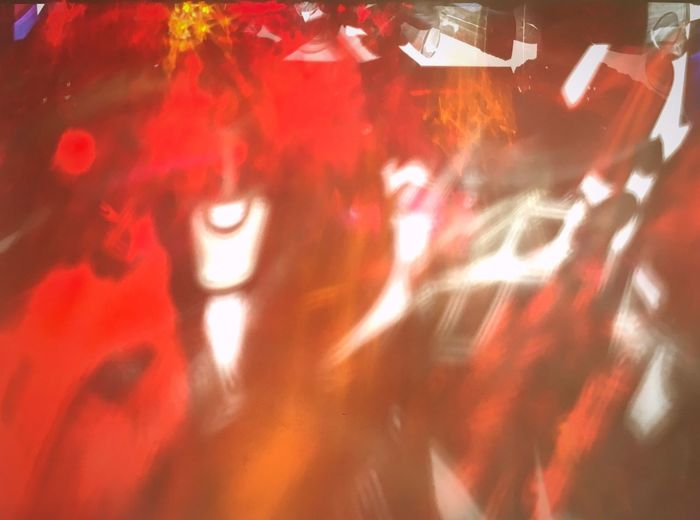 Shadow Red Illuminated Night Real People Indoors  Close-up Lifestyles Emotion