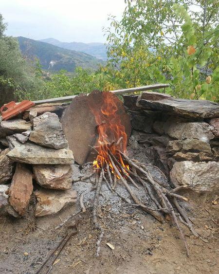 Ateş Tas Doğa Feuer Steine Natur Fire Stones Nature Feuerstelle Fireplace