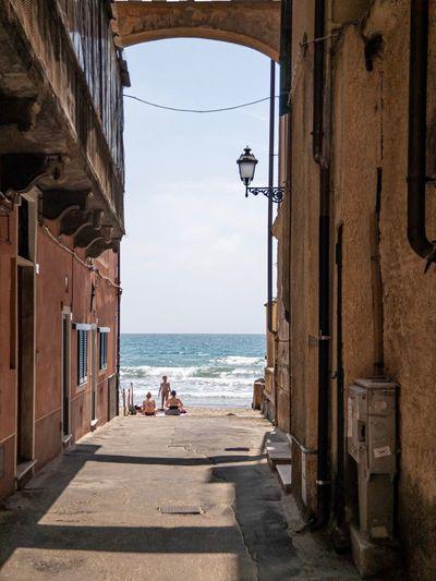 Liguria Italy Ligurian Sea Liguria,Italy Alassiobeach Alassio Sea Water Sky Architecture Built Structure Building Exterior Nature Beach