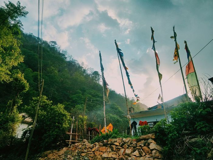 Prayer Flags. Check This Out Hello World Mobilephotography EyeEm Nature Lover Nepal TravelPhotography Flags