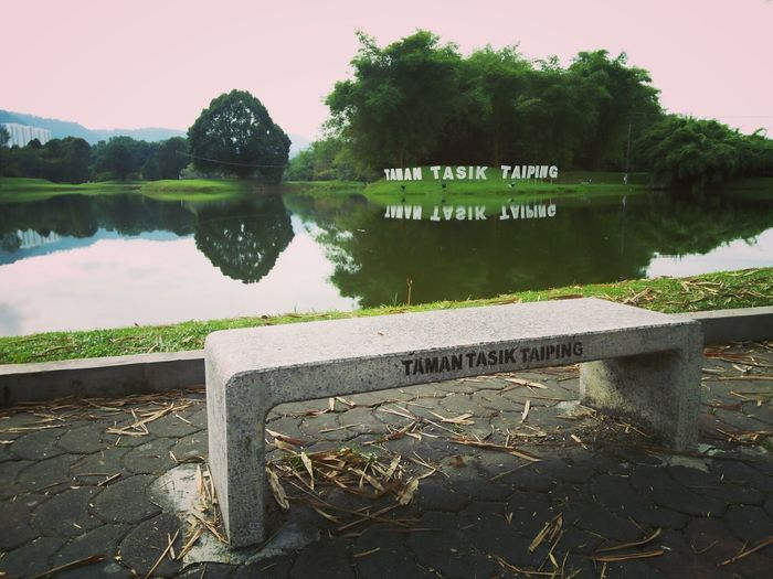 Bench Green Lakeview Morning Taiping Beauty In Nature Lakegarden Lakegardentaiping Landscape Malaysia Nature No People Outdoors Perak Malaysia Reflection Scenics Water
