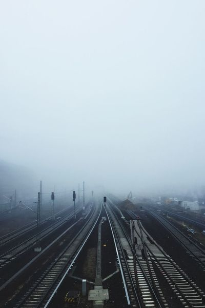 Berlin Winter Transportation Mode Of Transport Copy Space Rail Transportation Foggy No People The Way Forward Outdoors