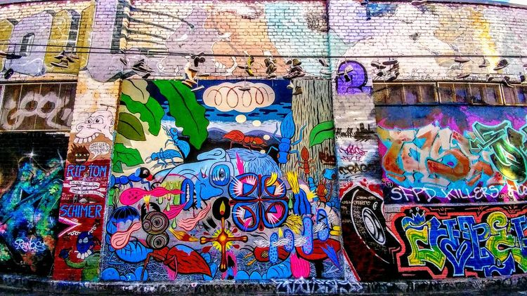 Multi Colored Backgrounds Full Frame Street Art Graffiti Art And Craft Pattern Wall - Building Feature Close-up Architecture Spray Paint ArtWork Vandalism Representation Mural Colorful Drawing Ghetto Painted Painted Image Scribble Paint Fresco