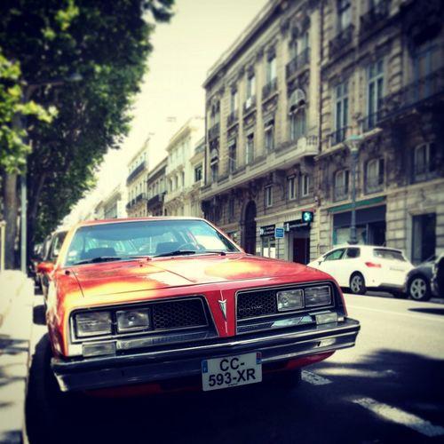 Soloparking Pontiac Firebird Transam Red France Béziers Smile Chrome Closeup