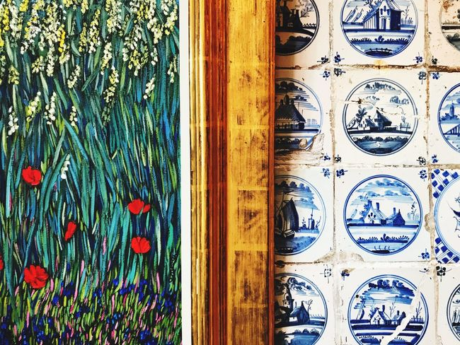 Pattern Blue Full Frame Window Backgrounds No People Day Close-up Multi Colored Indoors  Architecture Building Exterior Painting Kacheln Sylt Interior Design Interior Paintings Wall Nordfriesland Nordisch Gut Nordsee Friesisch Design ölgemälde