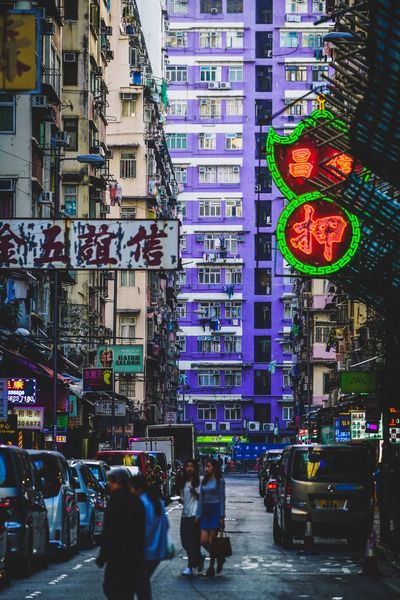 Street Photography Discoverhongkong City Building Exterior Architecture Street City Life Built Structure Real People Motor Vehicle Mode Of Transportation Group Of People Car Men Transportation Communication Large Group Of People Crowd City Street Land Vehicle Walking Lifestyles