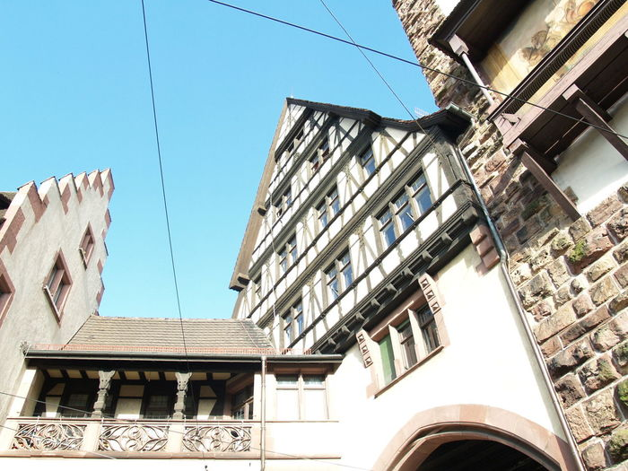 Photos of Freiburg, Germany 2007 Architecture Architecture Building Exterior Blue Sky Clouds And Sky Old Buildings Upwards Upwards Shot Upwards View