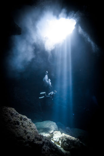 Saipan underwater life Adventure Beauty In Nature Cave Day Nature One Man Only One Person Outdoors People Scenics Scuba Diving Sea Sea Life Sky Sunbeam UnderSea Underwater Water