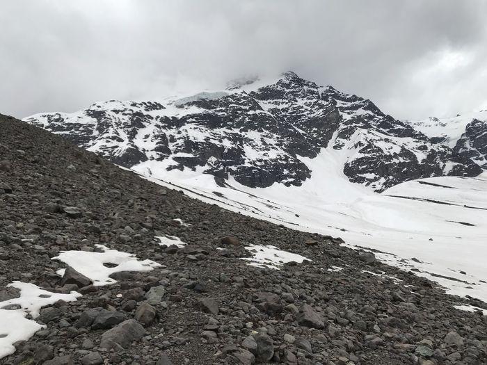 mountain snow and valley at el morado glacier Hiking Nature Volcano Landscape Winter Landscape Mountain Range Mountain Snow Valley Volcano