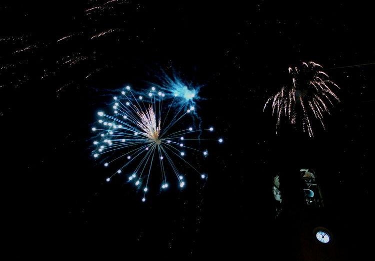 Artificial Illumination Bell Tower Campanile Celebration Etna, Mountain, Sicily, Exploding Festa Di Sant'egidio Abate Firework Firework Display Fuochi D'artificio  Illuminated Linguaglossa Low Angle View Luminarie Mezzanotte Multi Colored No People Orologio E Campane Outdoors Sky Star Shaped